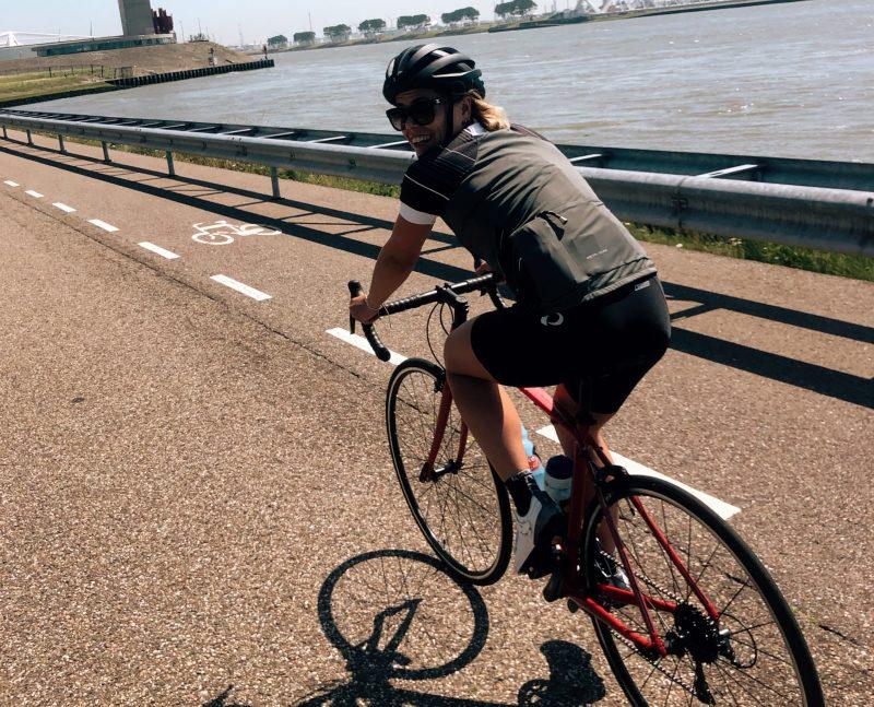 Lauren fietsen